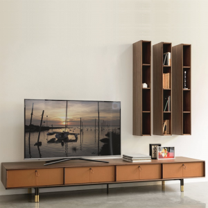 Bayus TV entertainment set designed by G&O Buratti for Porada