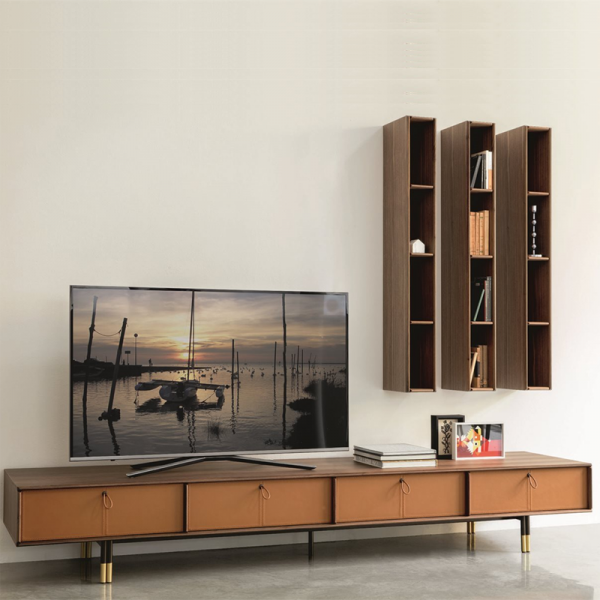 Bayus TV entertainment set designed by G&O Buratti for Porada