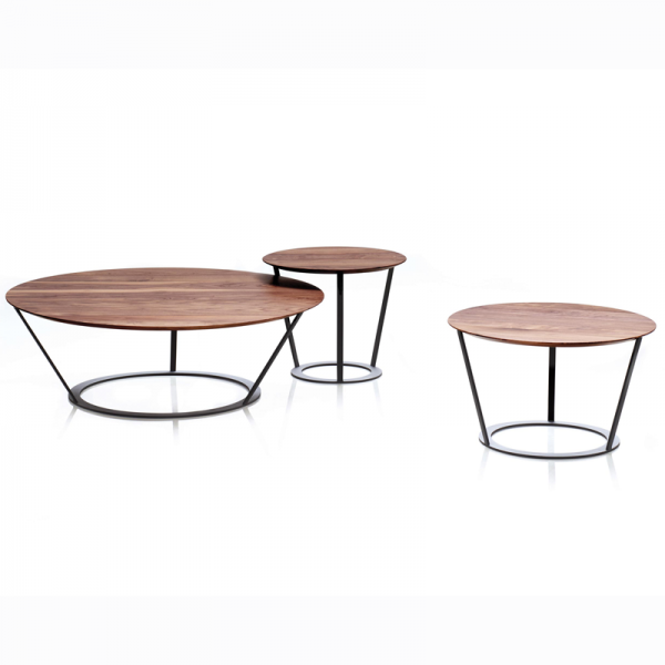 Bend coffee and side table designed for Papadatos