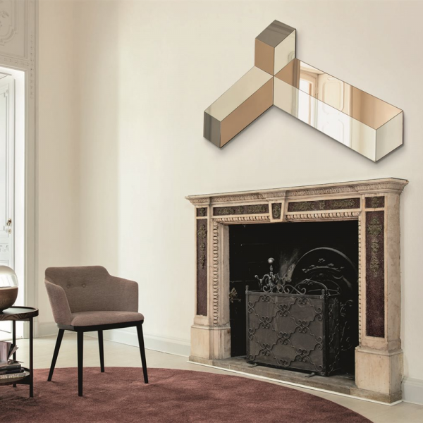 Ego wall mirror designed by Tarcisio Colzani for Porada