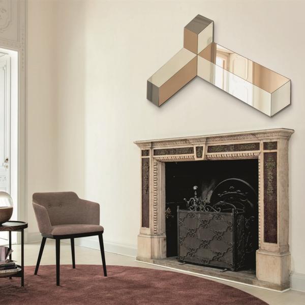 Ego wall mirror designed by Tarcisio Colzani for Porada