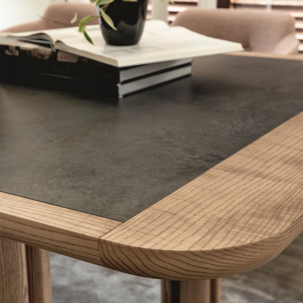 Quadrifoglio dining table designed by Carlo Ballabio for Porada