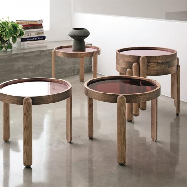 Trittico side table designed by Essetipi for Porada